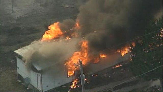 At Least A Dozen Homes, Structures Destroyed In Pawnee County Wildfire