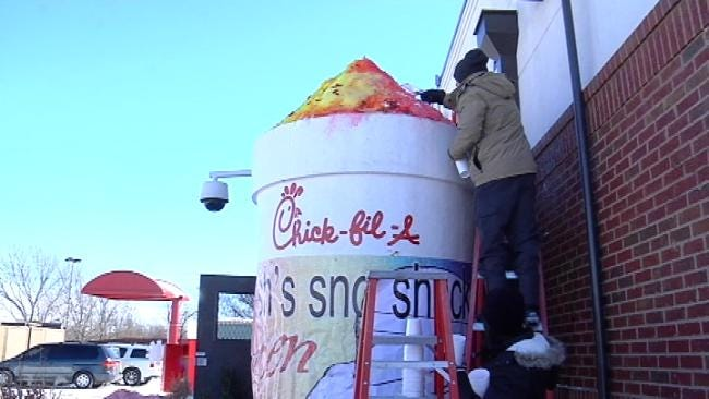 Chick-Fil-A, Josh's Sno Shack Attempt To Build World's Largest Snow Cone