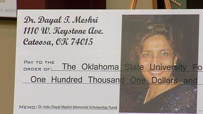Man Honors Late Wife With Scholarship Donation To OSU