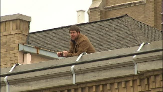 Tulsa School Principal Spends The Day On Roof