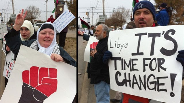 Tulsans Rally Against Libyan Oppression