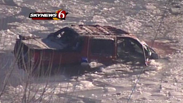 SUV Involved In Fatal Crash Near Miami Remains In Icy River