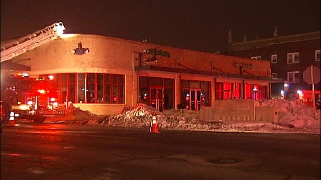 Broken Natural Gas Line Sparks Fire On Roof Of Tulsa Business