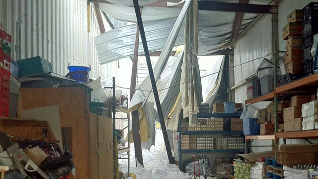 Tulsa Food Bank Damaged After Roof Collapse