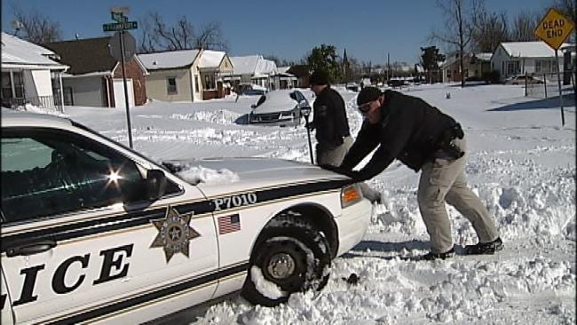 Tulsa Police To Battle Second Winter Storm With Help From Fire Department