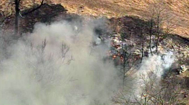 Grass Fire Sparked By Burning Shingles Near Sapulpa