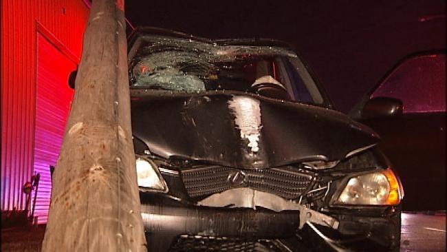 OHP Trooper Wakes Sleeping Driver After Tulsa Crash