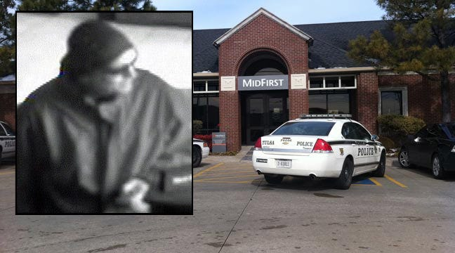 Tulsa Police Search For MidFirst Bank Robber