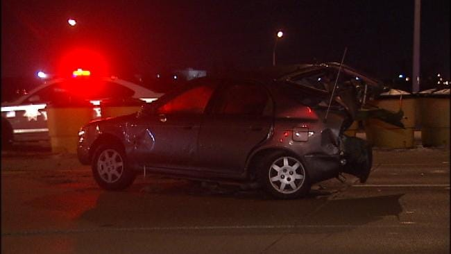 Couple Critically Injured In Tulsa Collision With Abandoned Car