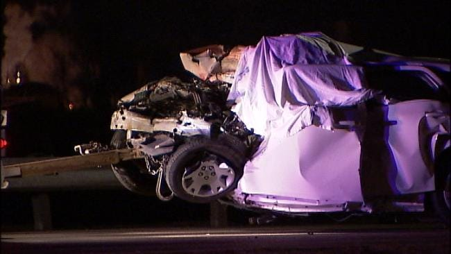 Troopers Identify Two People Killed In Head-On Collision On Will Rogers Near Verdigris