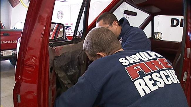 Sapulpa Firefighters Get A Break After A Busy Fire Day