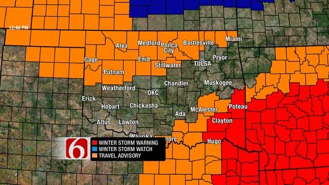 Winter Weather Moves Into Green Country