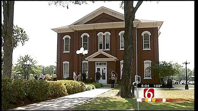 Cherokee Court Counting Ballot Envelopes