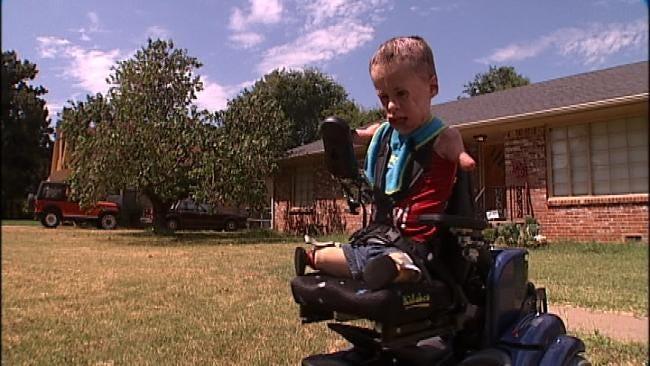 Oologah Meningitis Survivor Jeremiah Mitchell Gets New Wheelchair