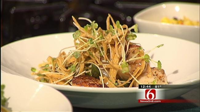 Seared Ahi Tuna, Asian Slaw And Scallop-Shrimp Stack