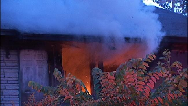 Unoccupied Tulsa Home Goes Up In Flames Tuesday Morning