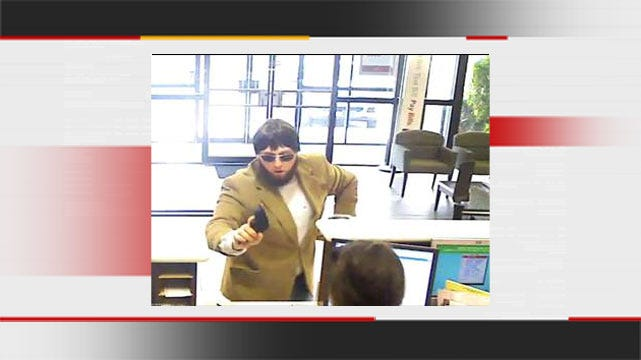 Man With Fake Beard Holds Up Tulsa Bank