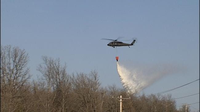 Helicopter Crews Describe Battle Against Oklahoma Grassfires