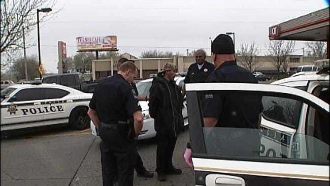 Man Arrested At Tulsa QuikTrip After Stabbing Tire On Police Car