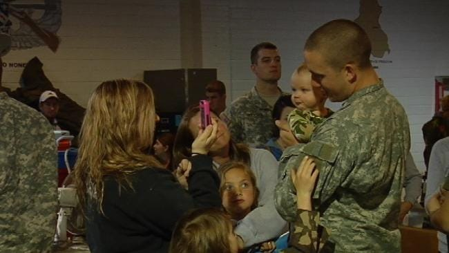 Oklahoma Families Say Goodbye To 45th Infantry Brigade Soldiers