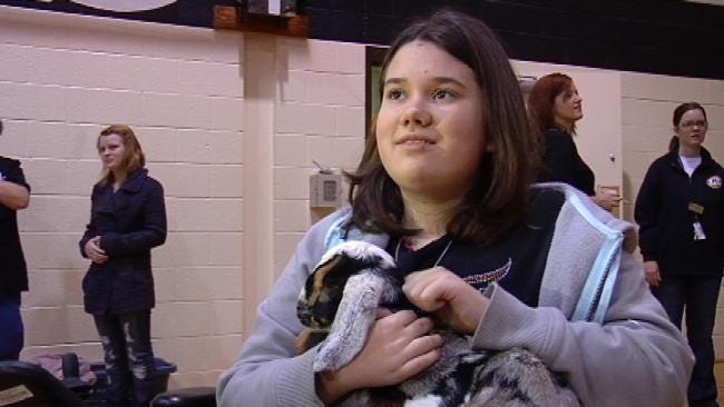 Broken Arrow Coach Kisses Goat For Good Cause