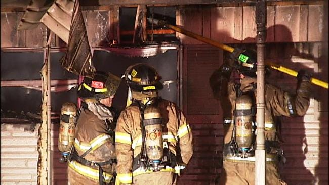 Vacant Tulsa House Burns Friday Night