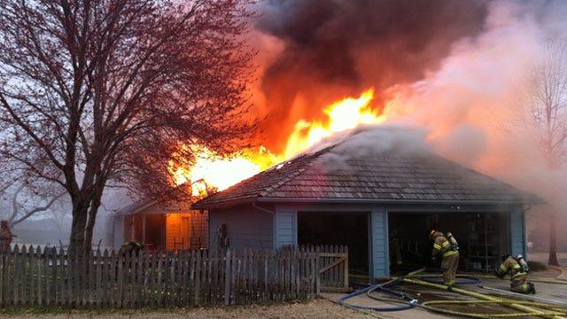 Man Escapes Burning South Tulsa Home