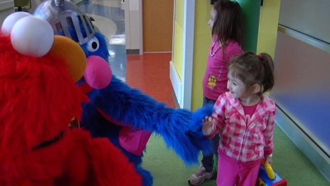 Sesame Street Characters Visit Sick Kids At Tulsa Hospital