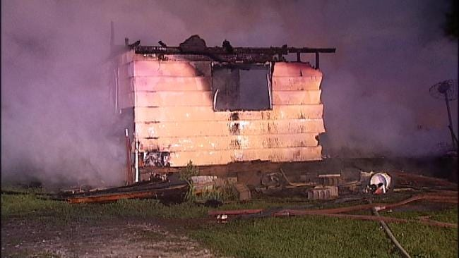 Rural Tulsa County Home Destroyed By Fire