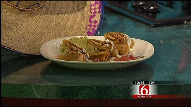 Chicken Flautas With Guacamole