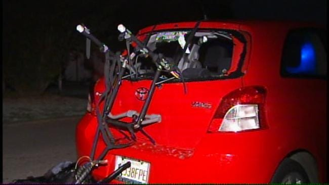 Tulsa Bicyclist Severely Injured When He Crashes Into Parked Car