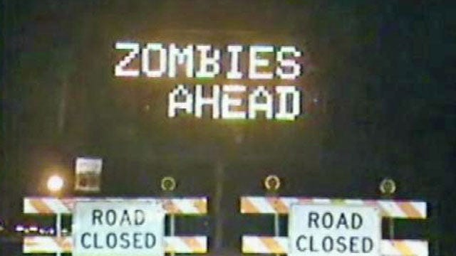 Tulsa Traffic Sign Warns Drivers About Zombies