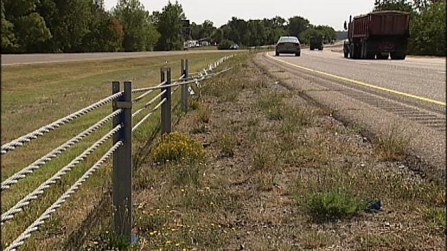 Sand Springs Police: Highway Cable Barrier Stops Sleepy Driver