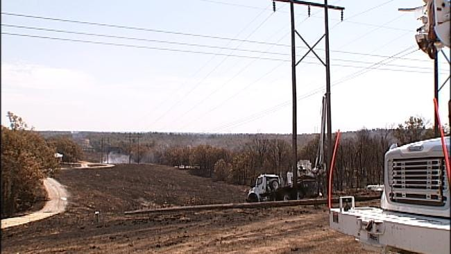 Power Mostly Restored To Creek County After Wildfire