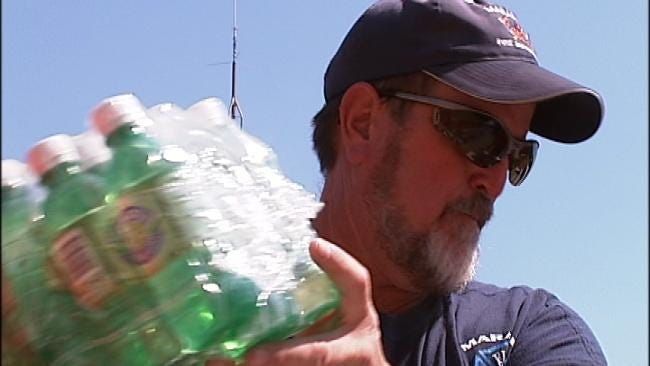 Green Country Firefighters Say Thanks For Donated Water, Gatorade