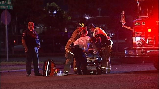 Tulsa Police Unsure If Rollover Wreck Victim Was Driver Or Passenger