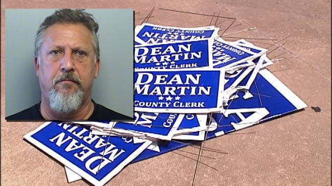 Stolen Tulsa County Campaign Signs Traced To Opponent's Campaign