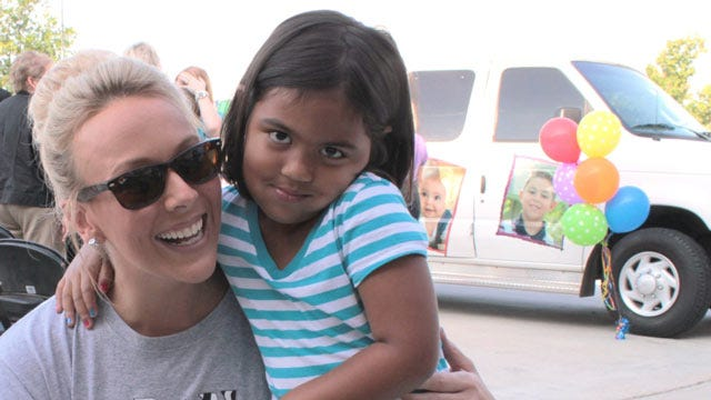 Tulsa Girl Recognized As The 100,000th Child Immunized In Caring Van