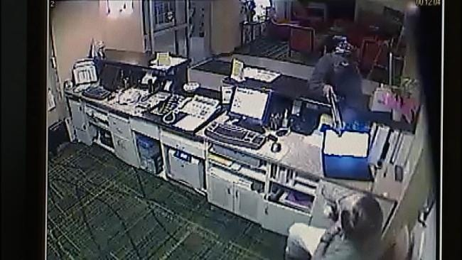Man Who Robbed Tulsa Motel Caught On Surveillance Video