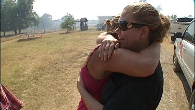 Drumright Residents Use Sprinklers To Save Their Own Homes