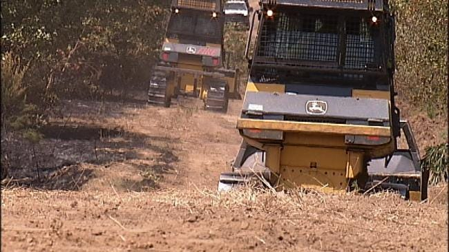 Forestry Service Crews Still Working To Contain Grass Fires In Creek County