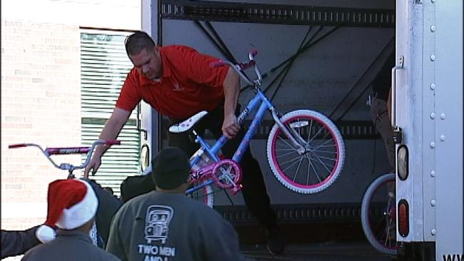 Organization Delivers Dozens Of Bikes To Tulsa Family And Children's Services