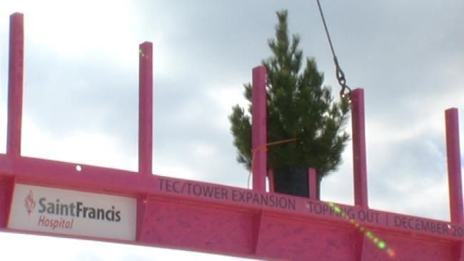 Tulsa Hospital Holds Topping Off Ceremony For ER Expansion