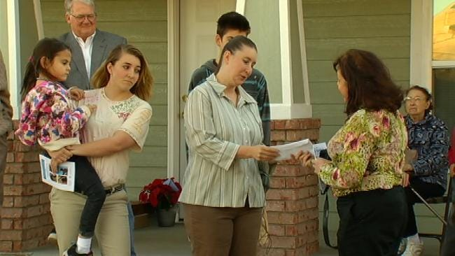 Tulsa Woman Handed Keys To New Habitat For Humanity Home