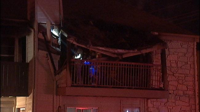 South Tulsa Apartment Balcony Fire Displaces Several Families