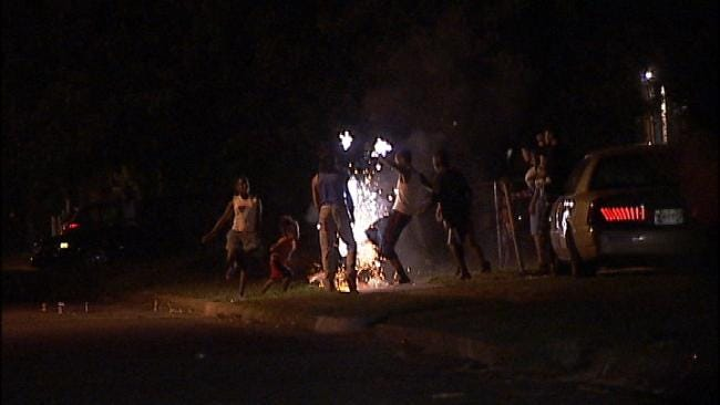 Roman Candle Fight Damages Tulsa Home