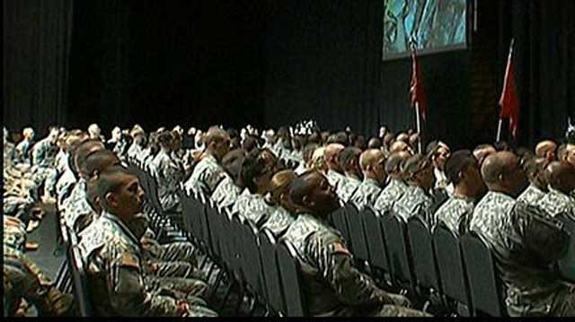 Family Members Say Farewell To Oklahoma Soldiers During Ceremony