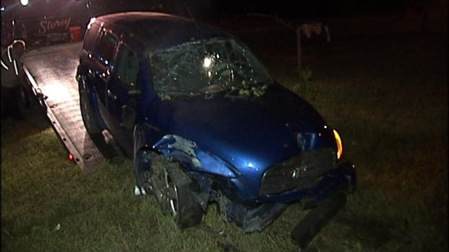 Teenaged Driver Hurt In Rollover Crash On Broken Arrow Expressway
