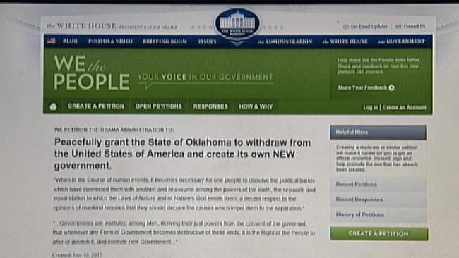 Owasso Couple Start Petition For Oklahoma To Secede From The U.S.