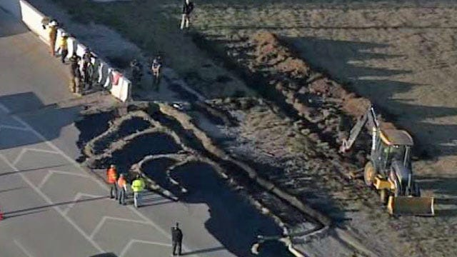 Oil Tanker Crash Shuts Down Downtown Tulsa Highway Ramp